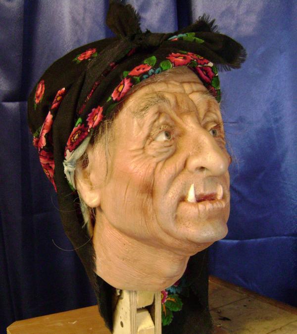Восквая фигура на заказ, голова Баба Яга