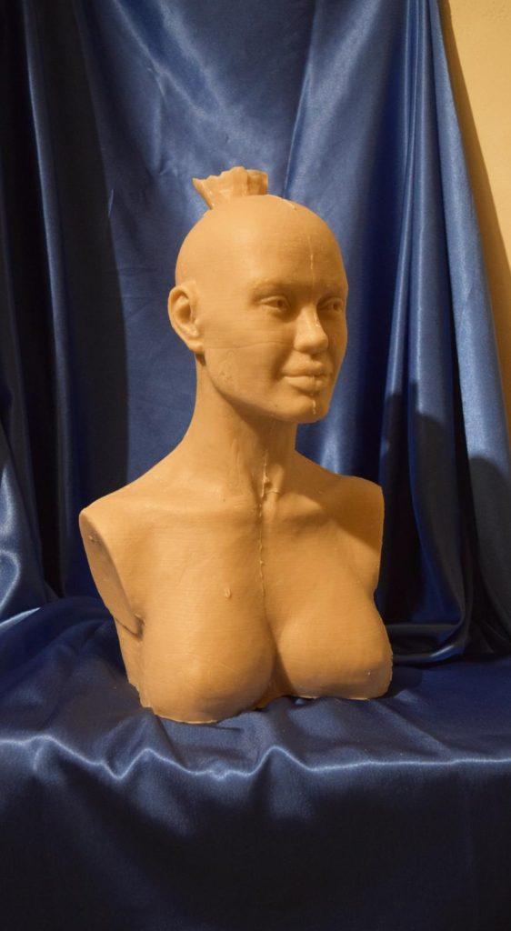 Анджелина Джоли, восковая отливка бюста