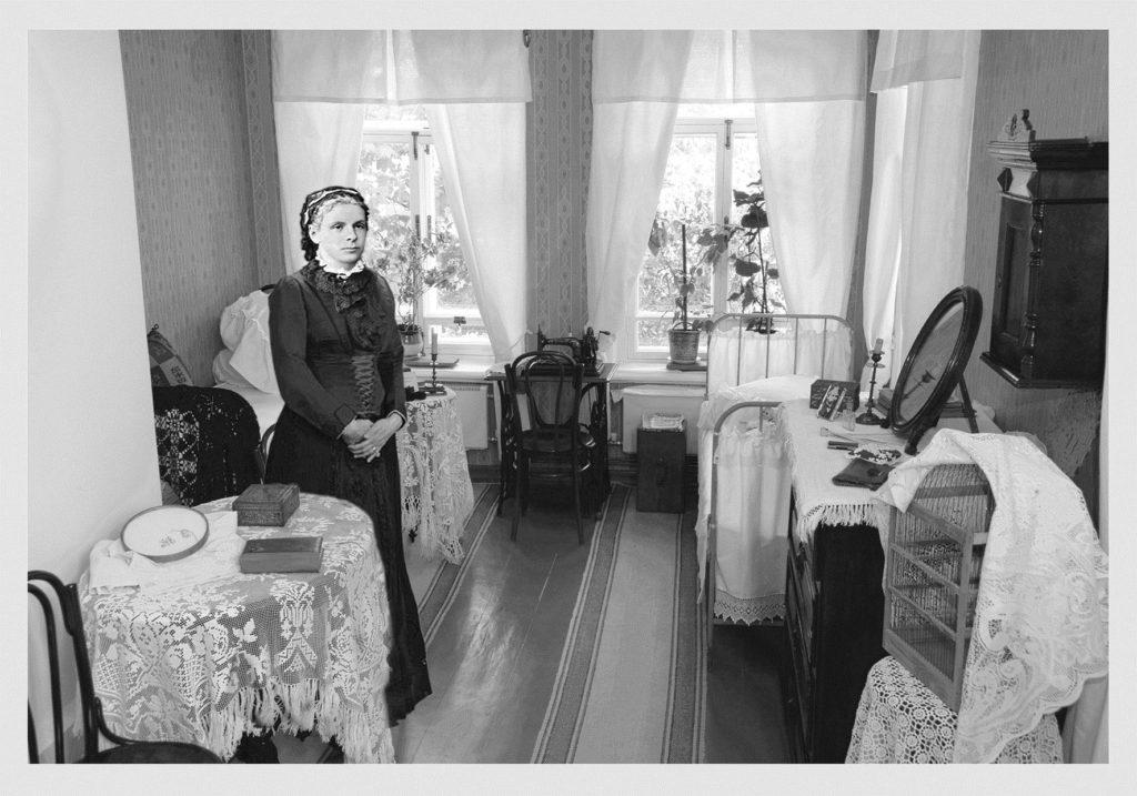 Эскиз для экспозиции в Самаре, восковая фигура Марии Александровны Ульяновой