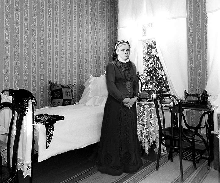 Эскиз для восковой фигуры матери Ленина