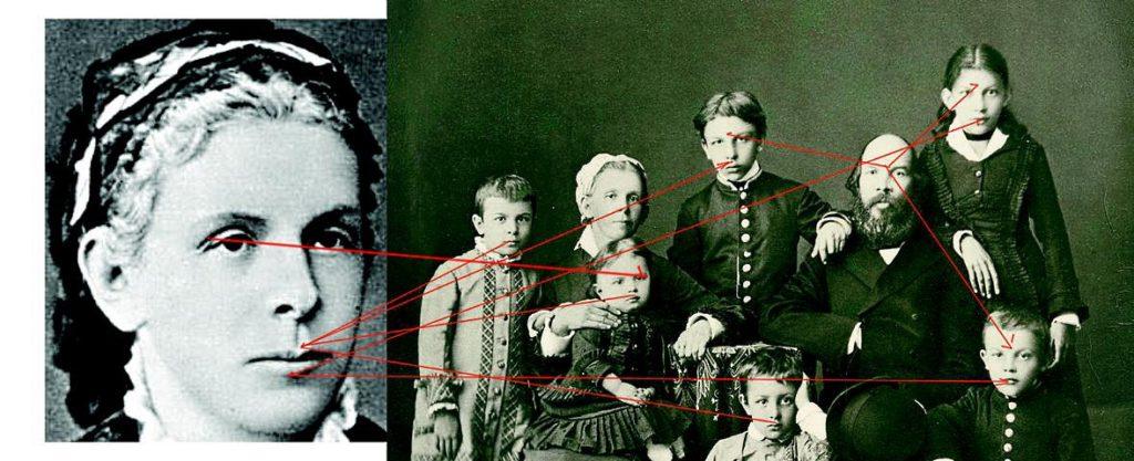 Особенности анатомии лица по материнской линии семьи Ульяновых