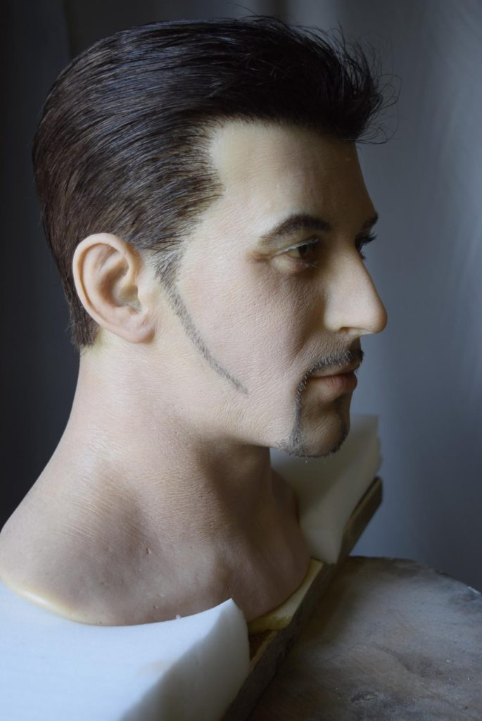 Голова для восковой фигуры Алессандро Дель Пьеро