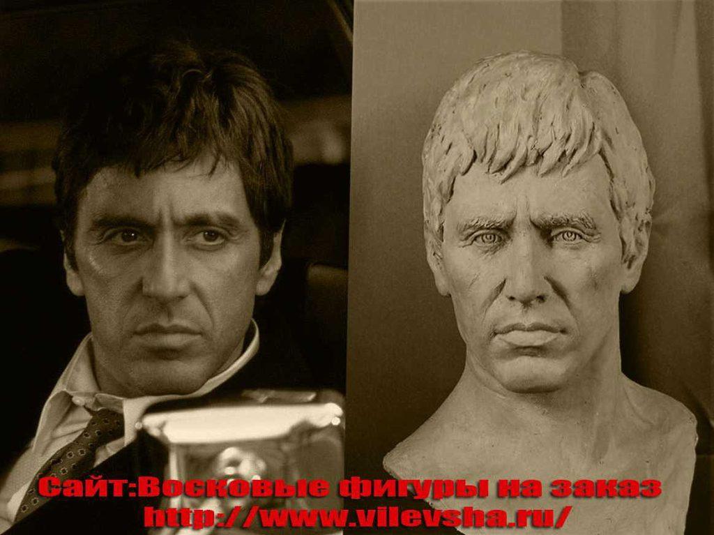 Восковые фигуры знаменитостей, портрет для фигуры из пластилина