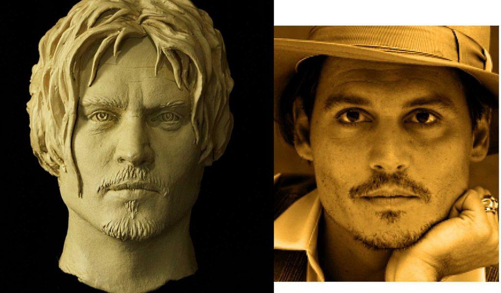 Портрет Джона Деппа для восковой фигуры Джека воробья
