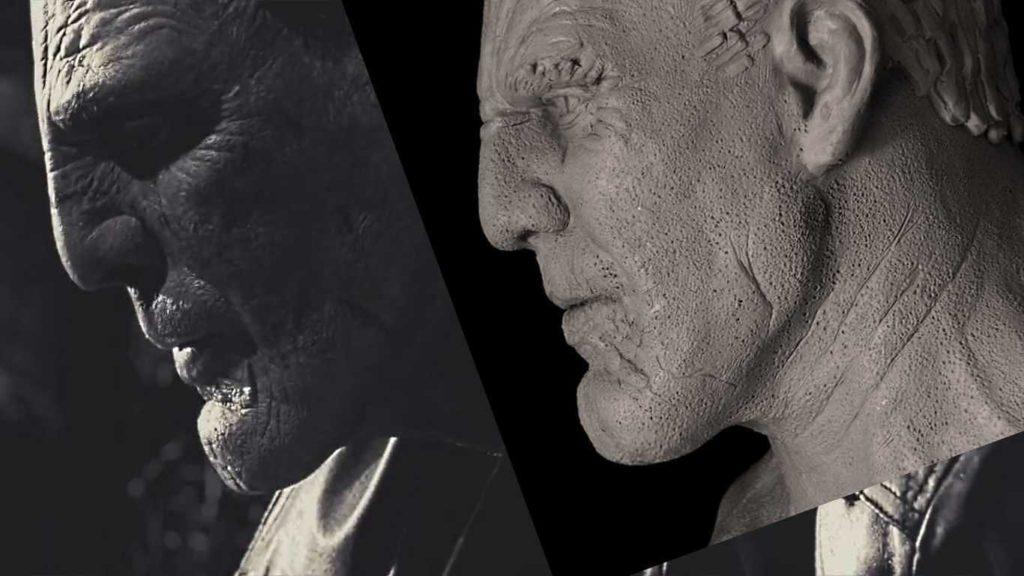 Модель головы из пластилина Марва из кинофильма «Город грехов»