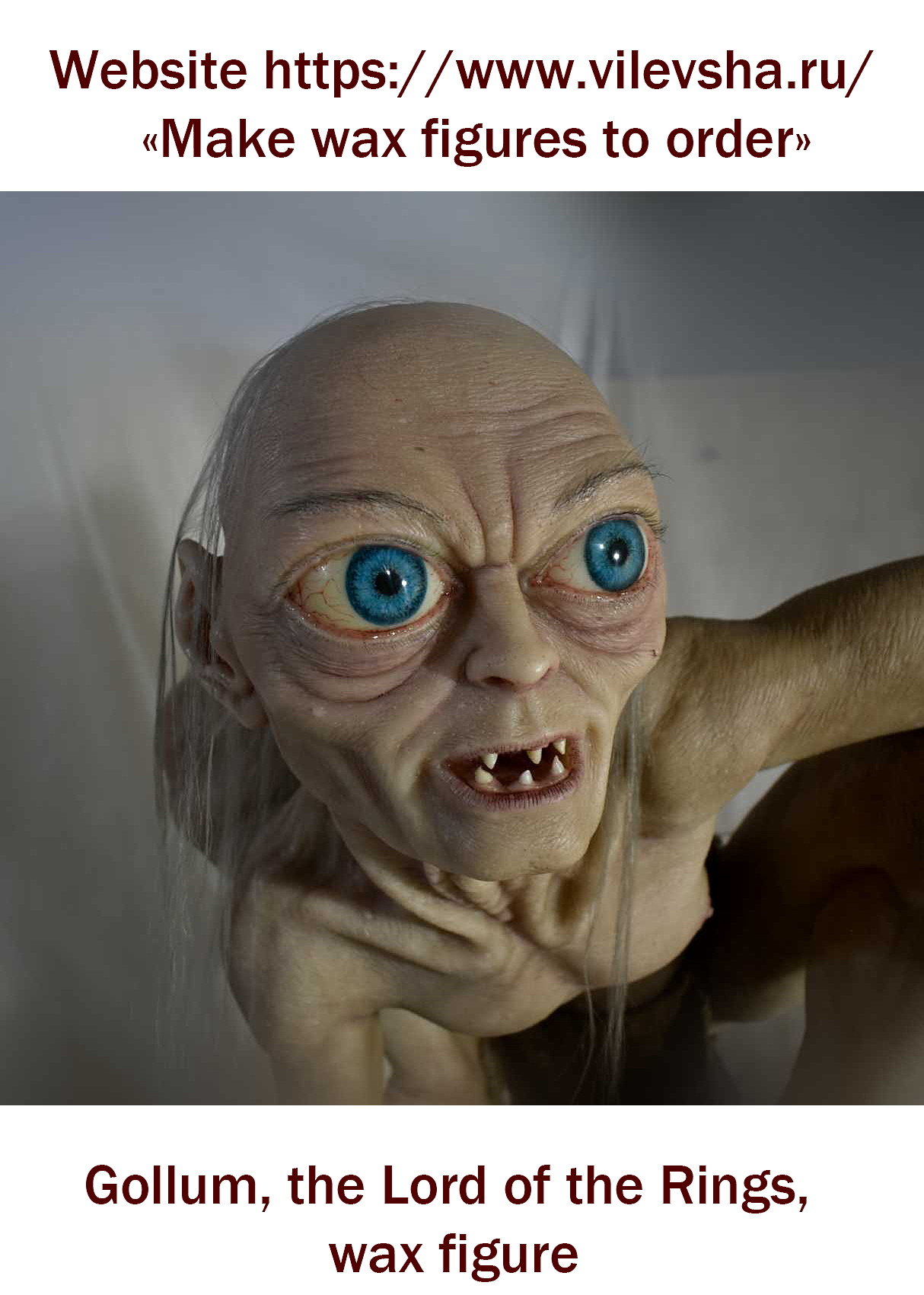 Gollum, the Lord of the Rings, wax figure