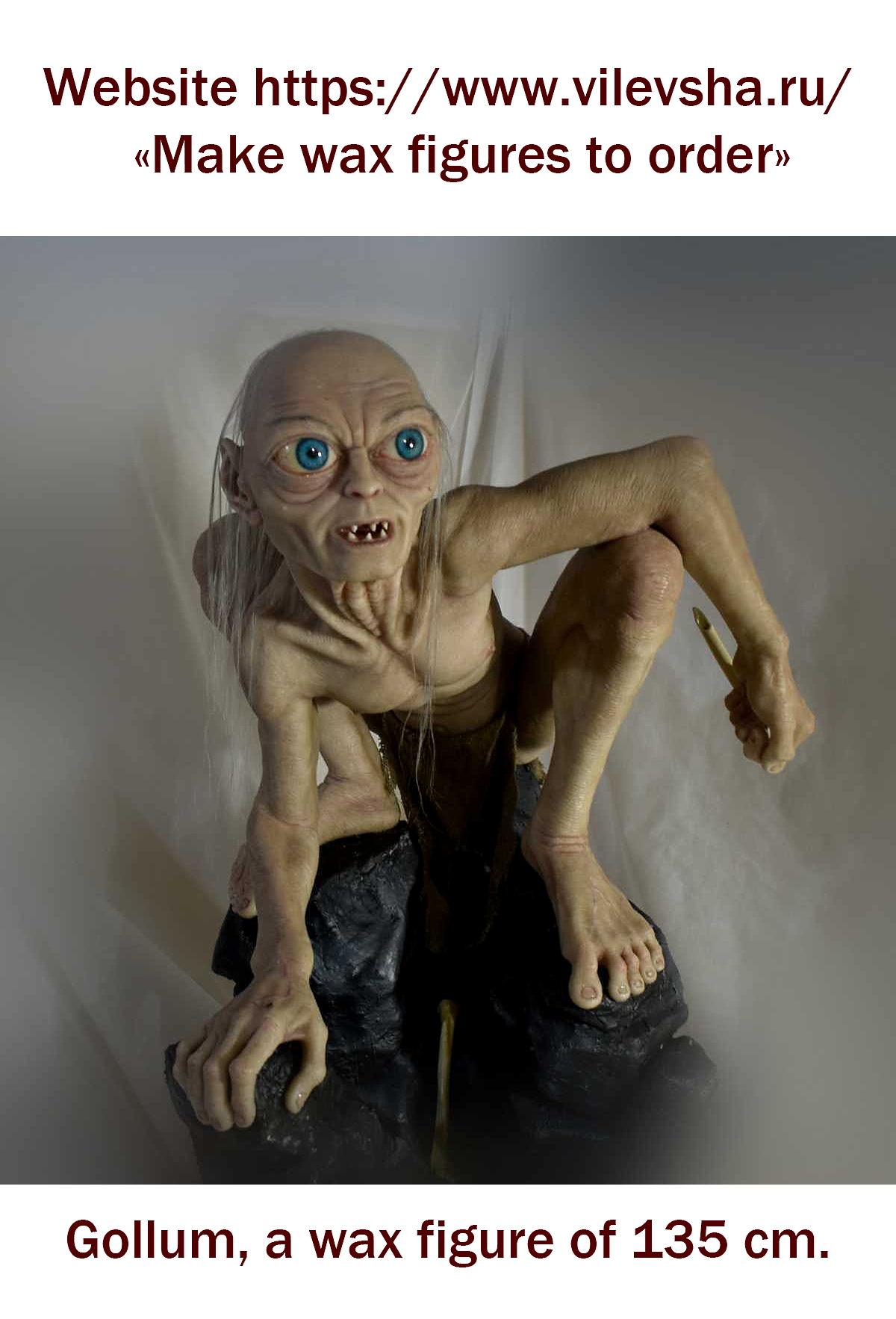 The wax figure of Gollum